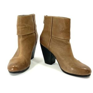 VINCE CAMUTO Hadley Boots Booties Tan Leather CL8